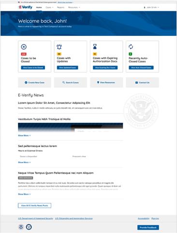 New VIS Homepage